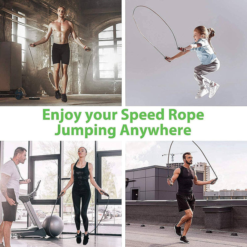 ACECOM Jump Rope Tangle-Free with Ball Bearings Fitness - DailySale