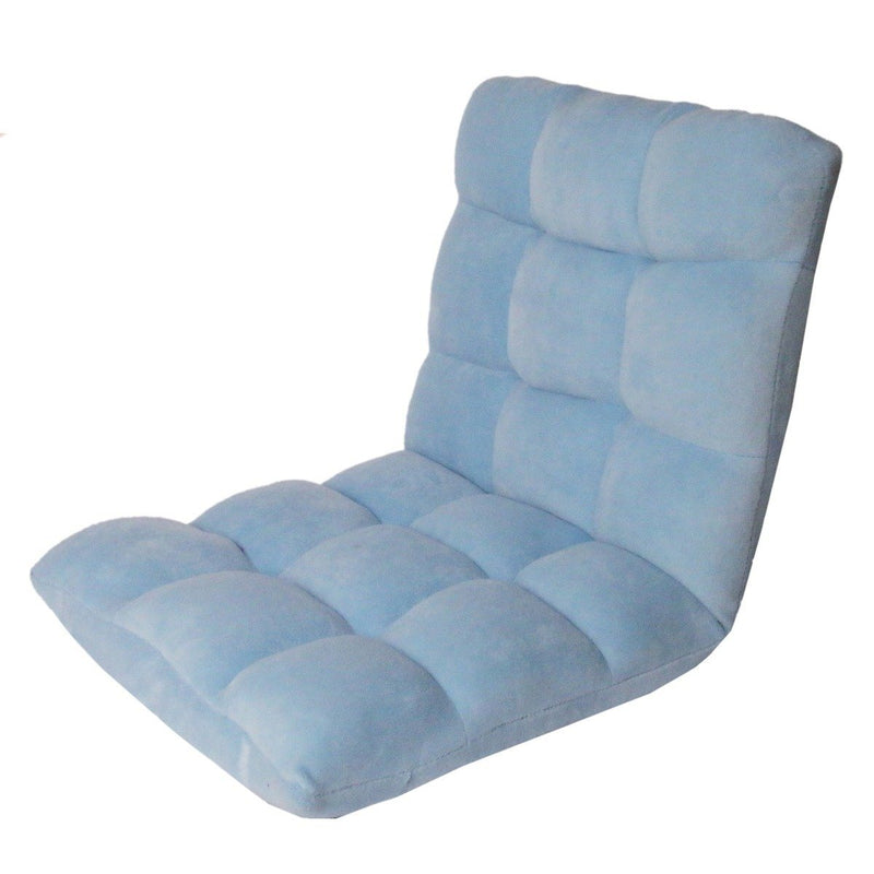 Adjustable Recliner Rocker Memory Foam Floor Ergonomic Gaming Chair Furniture & Decor Blue - DailySale