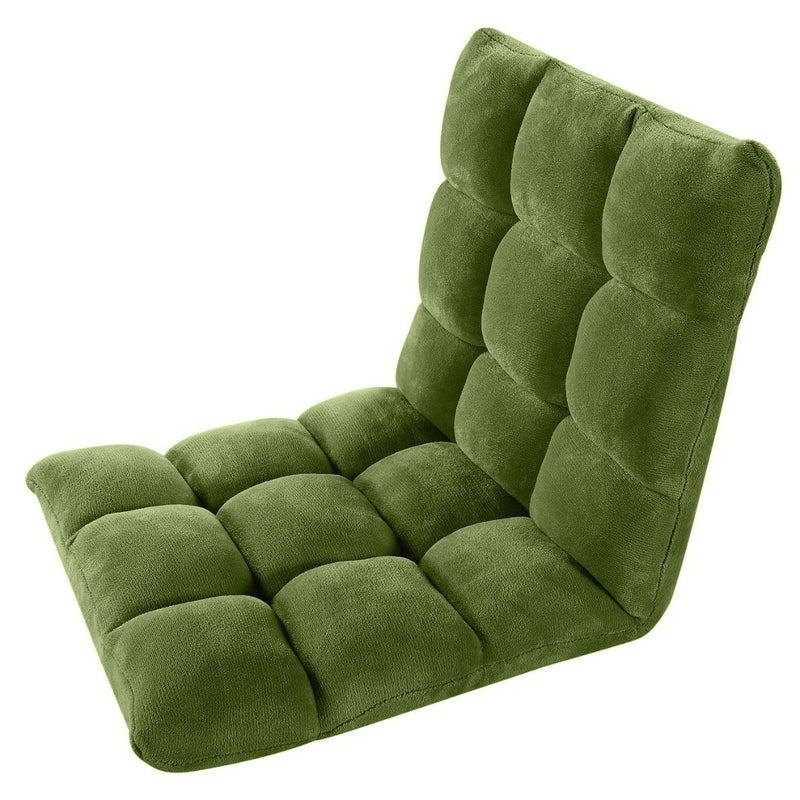 Adjustable Recliner Rocker Memory Foam Floor Ergonomic Gaming Chair Furniture & Decor Green - DailySale
