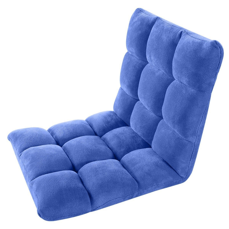 Adjustable Recliner Rocker Memory Foam Floor Ergonomic Gaming Chair Furniture & Decor Royal Blue - DailySale