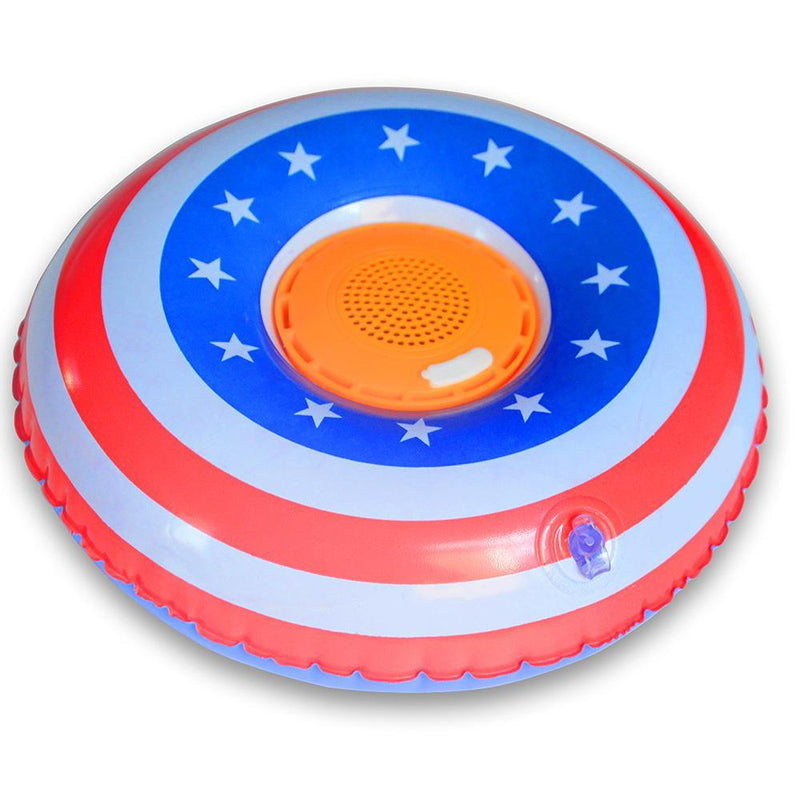 Aduro Pool Party Wireless Bluetooth Floating Bathtub Speaker Headphones & Speakers American Flag - DailySale