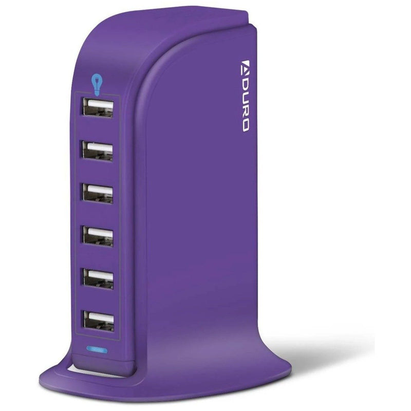 Aduro Powerup 6 Port USB Home Charging Station Gadgets & Accessories Purple - DailySale