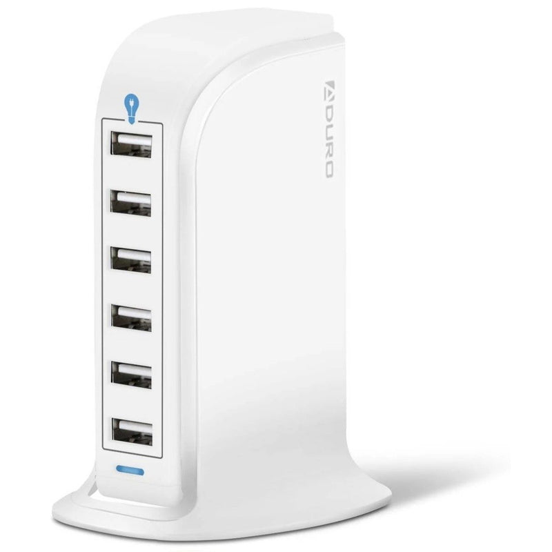 Aduro Powerup 6 Port USB Home Charging Station Gadgets & Accessories White - DailySale