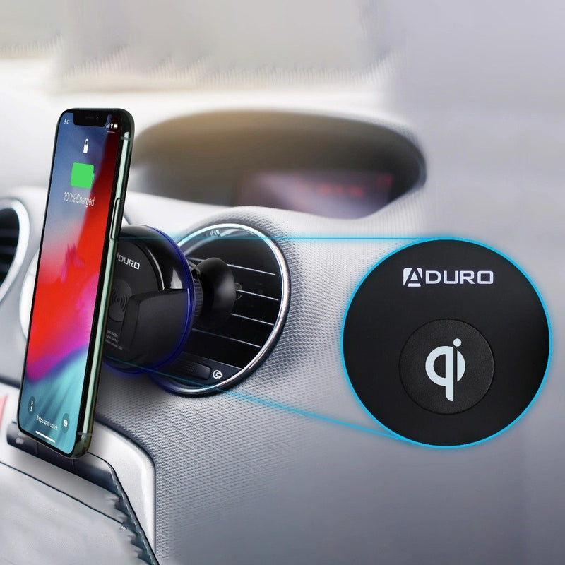 Aduro Qi-Certified Wireless Charging Vent Mount Phones & Accessories - DailySale