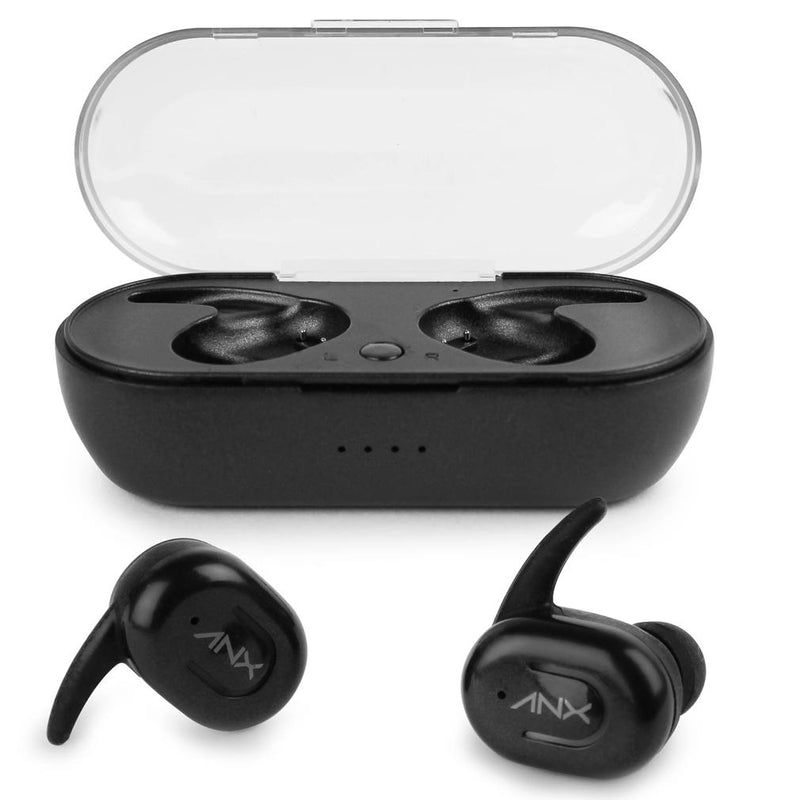 Aduro Sync-Buds True Wireless Earbuds with Charging Case Headphones & Speakers Black - DailySale