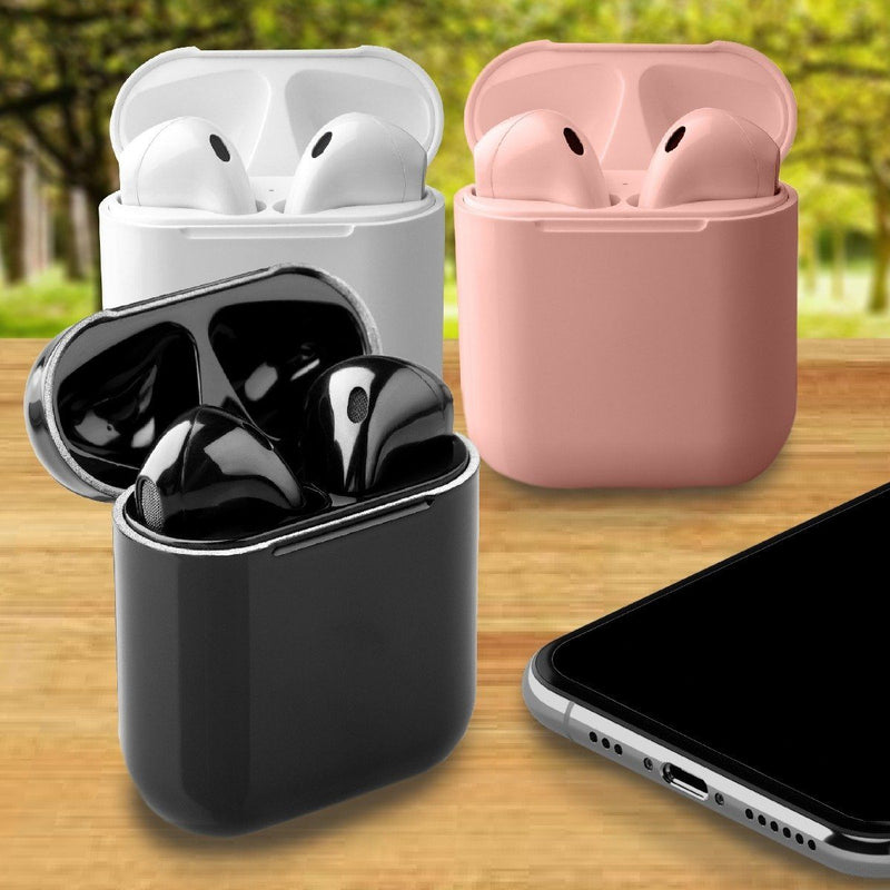Airbuds Wireless Bluetooth Earphones with Charging Case and Bonus Qi Charging Mat Headphones & Speakers - DailySale