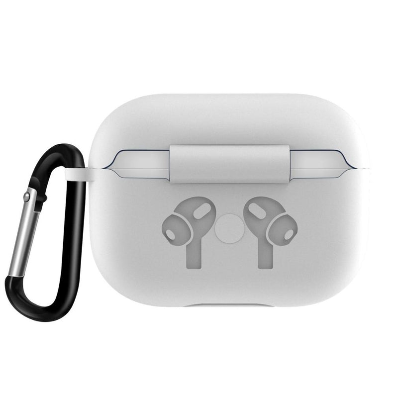 Airpods Pro Protective Case With Carabiner Gadgets & Accessories White - DailySale