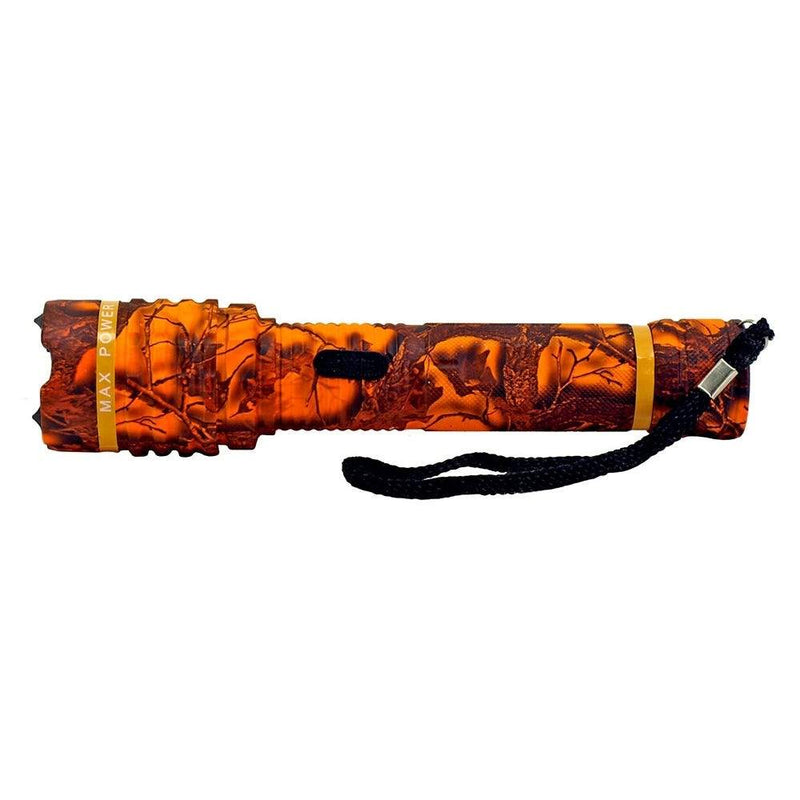 All Metal Stun Gun 4.9m Volt with LED Flashlight Sports & Outdoors Orange Camo - DailySale