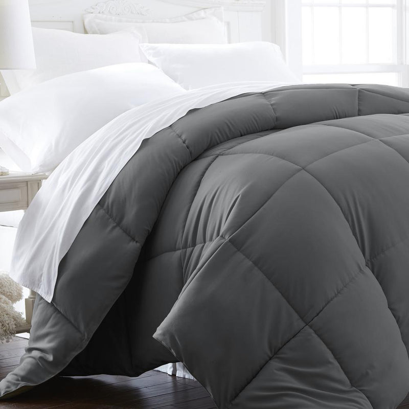 All-Season Down Alternative Hypoallergenic Comforter Bedding King/Cal King Gray - DailySale