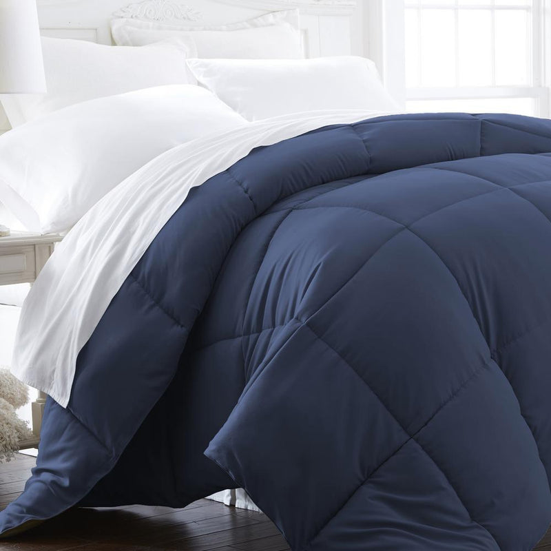 All-Season Down Alternative Hypoallergenic Comforter Bedding King/Cal King Navy - DailySale