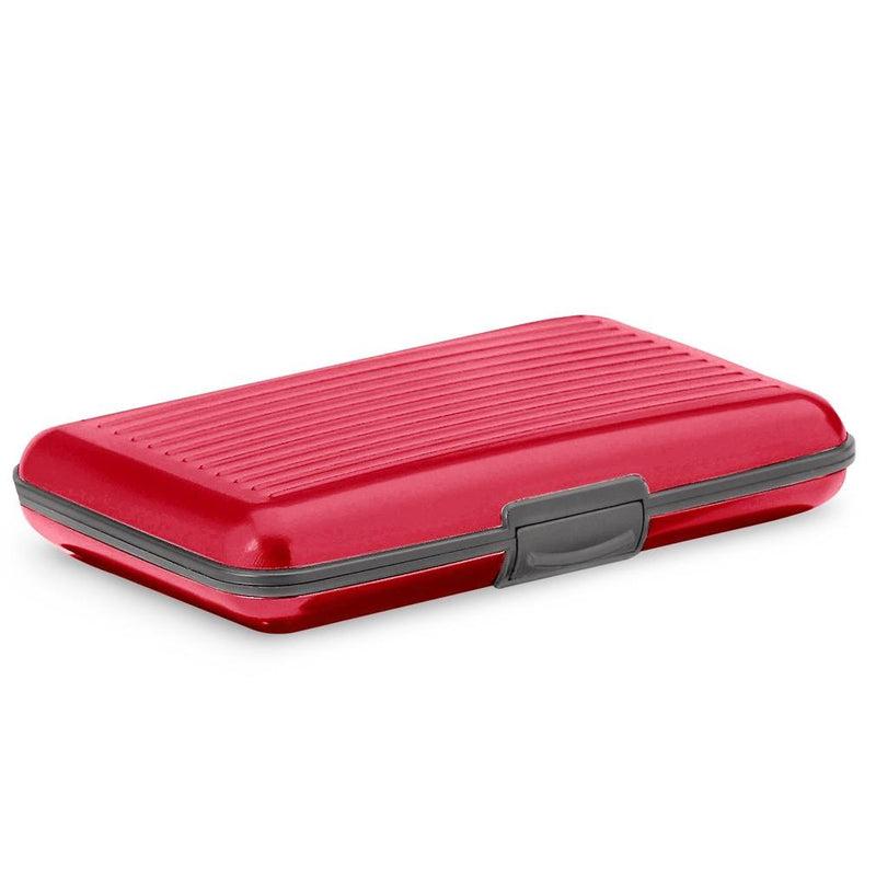Aluminum RFID Blocking Credit Card Wallet Case Handbags & Wallets Red - DailySale