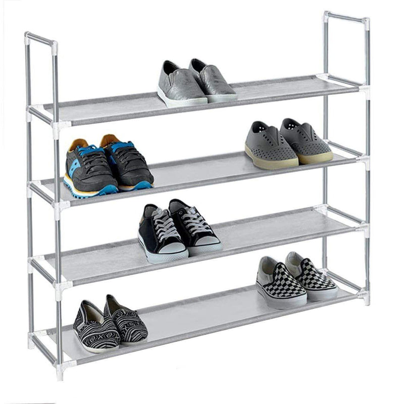 American Dream Home Goods Organizer Shoe Rack Home Essentials Gray - DailySale