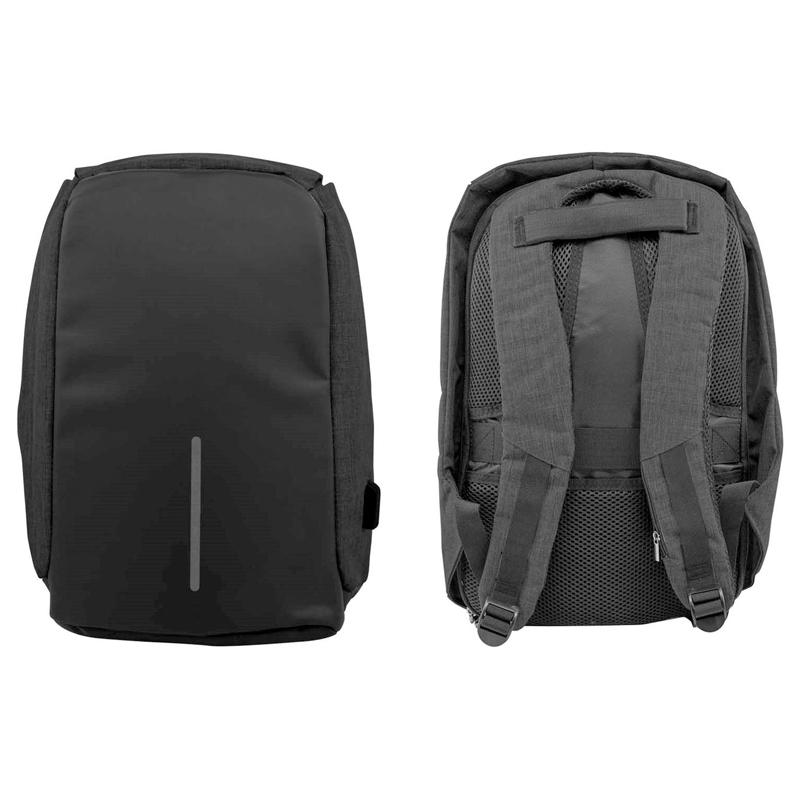 Anti-Theft Backpack with USB Charging Port Handbags & Wallets Black - DailySale