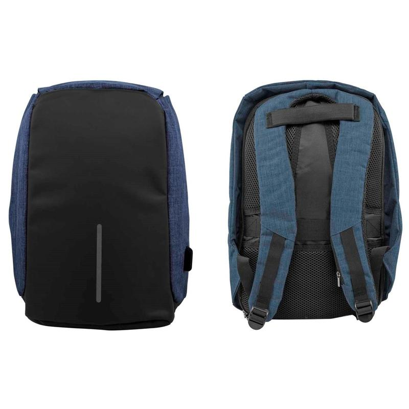Anti-Theft Backpack with USB Charging Port Handbags & Wallets Blue - DailySale