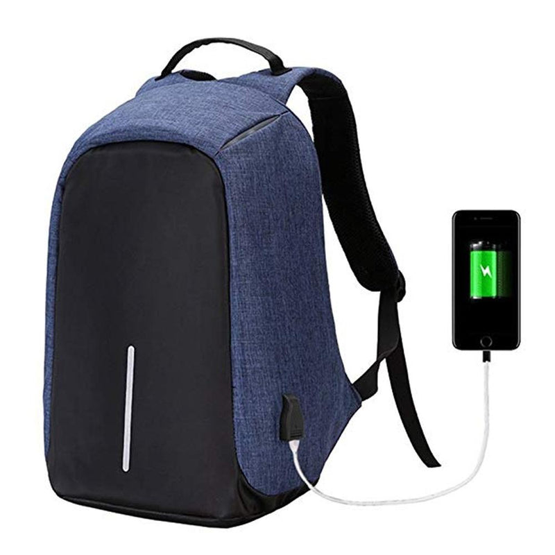 Anti-Theft Backpack with USB Charging Port Handbags & Wallets - DailySale