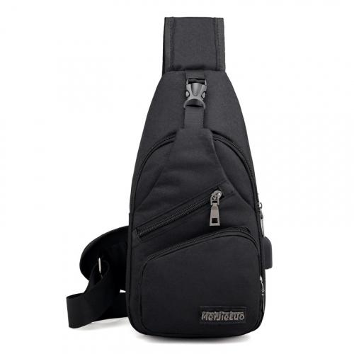 Anti-theft Sling Backpack With Charging Port Bags & Travel Black - DailySale