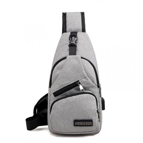 Anti-theft Sling Backpack With Charging Port Bags & Travel Gray - DailySale