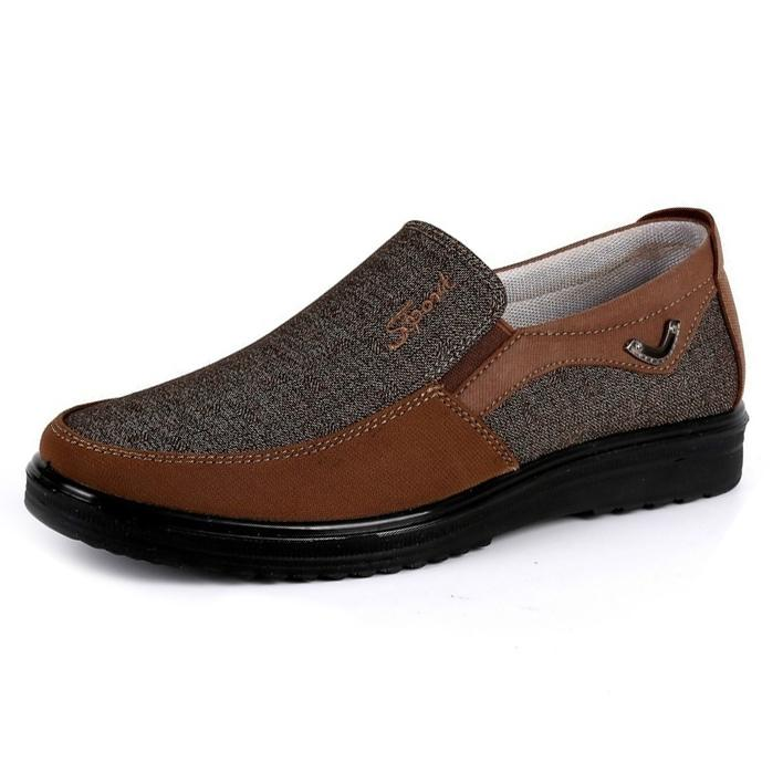 Antiskid Slip On Loafer Shoes Men's Clothing US6 Coffee - DailySale