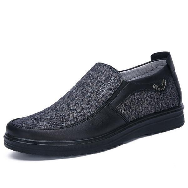 Antiskid Slip On Loafer Shoes Men's Clothing US6 Gray - DailySale