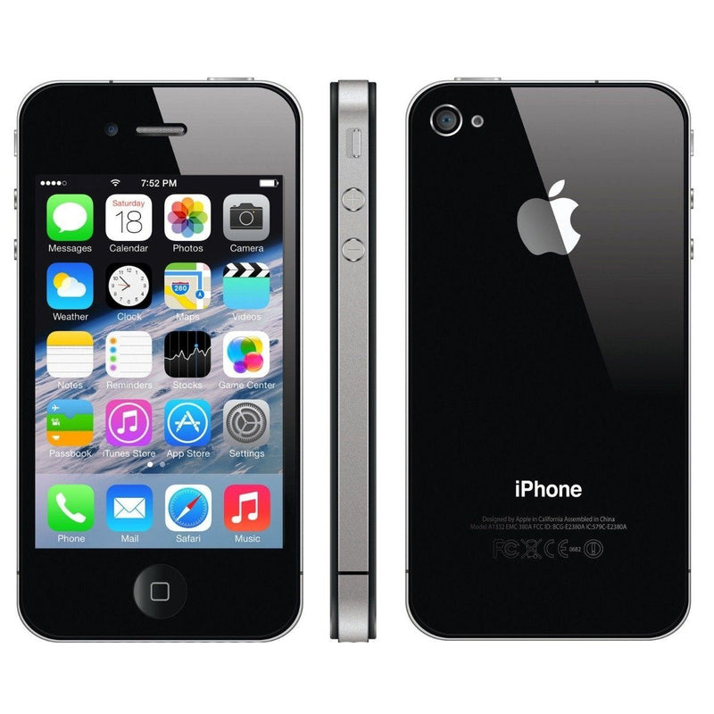Apple iPhone 4S Factory Unlocked - Assorted Colors and Sizes Phones & Accessories 8GB Black - DailySale