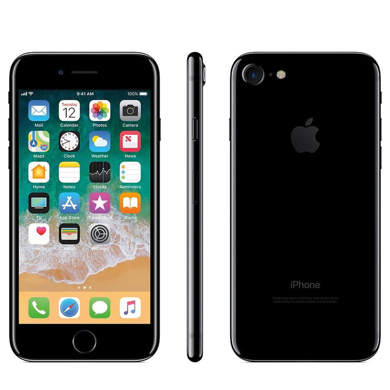 Apple iPhone 7 Fully Unlocked - Assorted Colors and Sizes Phones & Accessories 128GB Jet Black - DailySale