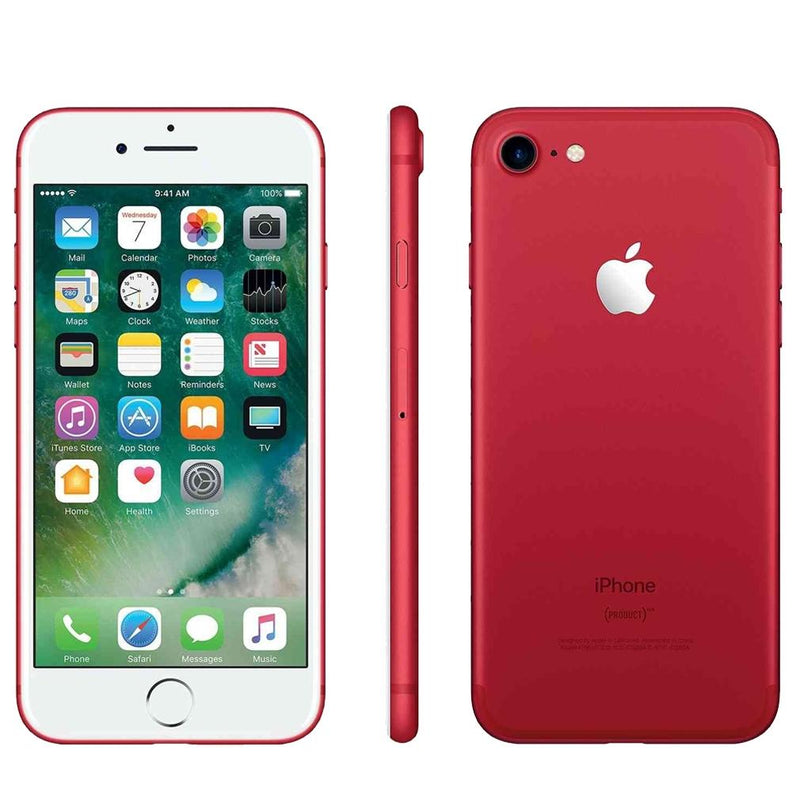 Apple iPhone 7 Fully Unlocked - Assorted Colors and Sizes Phones & Accessories 128GB Red - DailySale