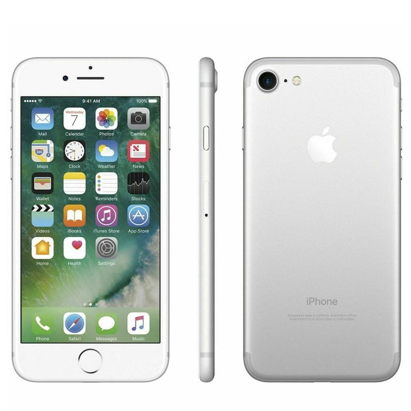 Apple iPhone 7 Fully Unlocked - Assorted Colors and Sizes Phones & Accessories 32GB Silver - DailySale