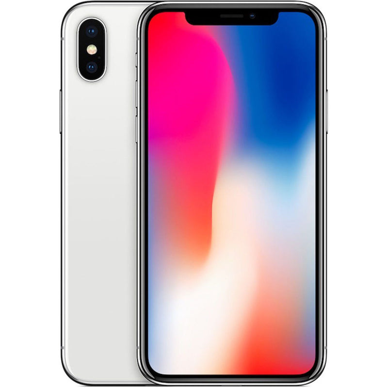 Apple iPhone X for AT&T Cricket & H2O Cell Phones 64GB Silver - DailySale