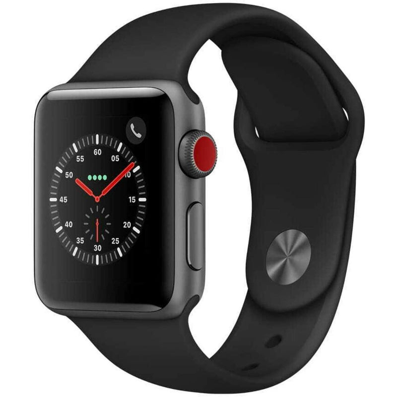 Apple Watch Series 3 GPS + Cellular 4G Smart Watches Black 38MM - DailySale