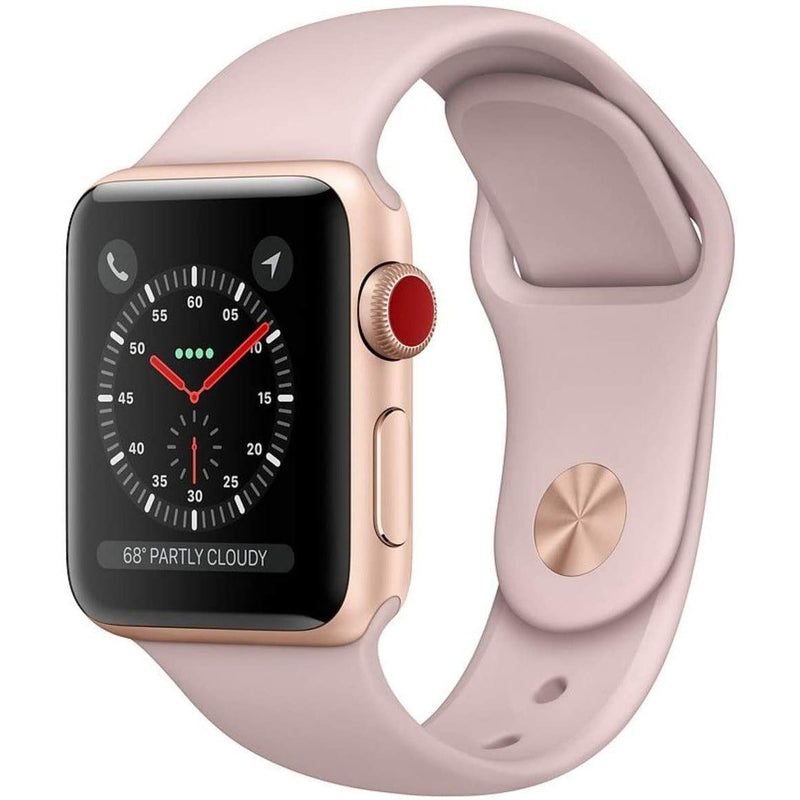 Apple Watch Series 3 GPS + Cellular 4G Smart Watches Pink 38MM - DailySale