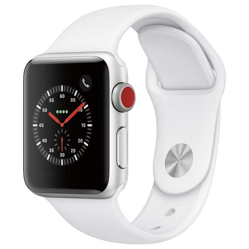 Apple Watch Series 3 GPS + Cellular 4G Smart Watches White 38MM - DailySale