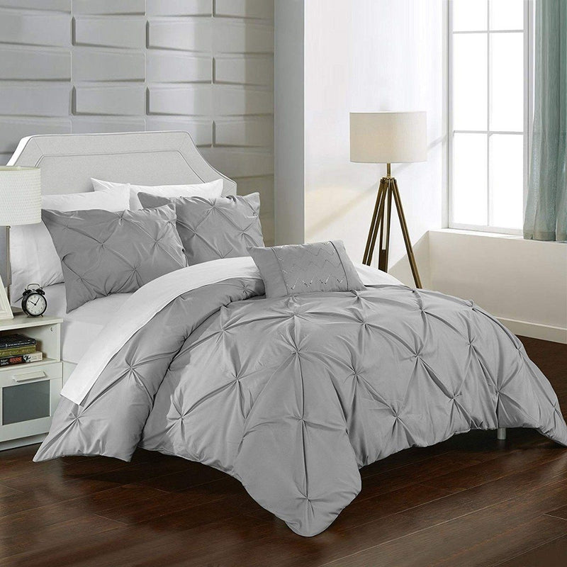 Armi Pinch-Pleated Microfiber Duvet Cover Set Linen & Bedding - DailySale