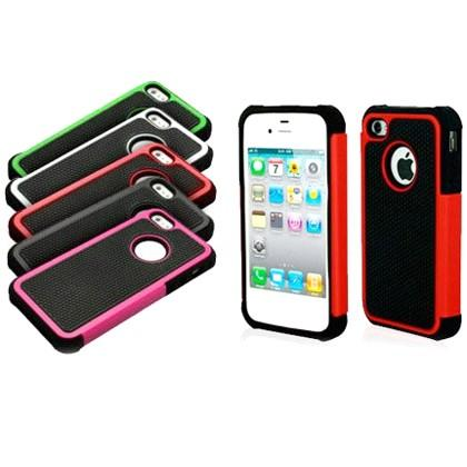 Armor Hybrid Case for iPhone 4 Phones & Accessories Dark Pink - DailySale