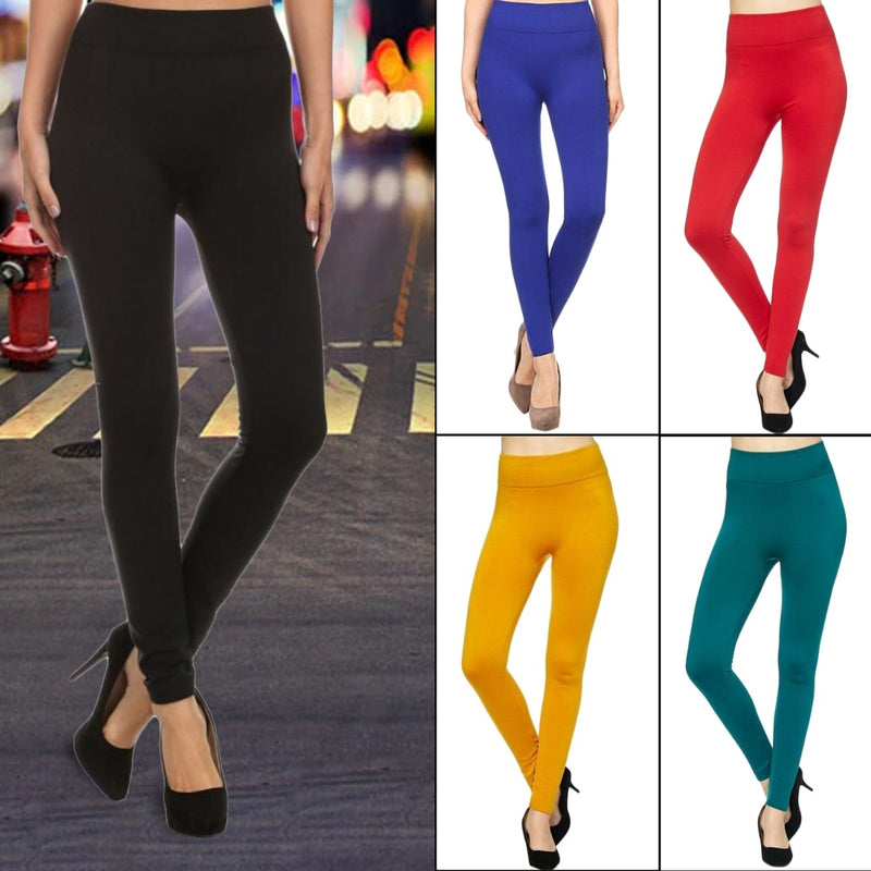 5-Pack: Women's Premium Fleece Leggings - DailySale, Inc