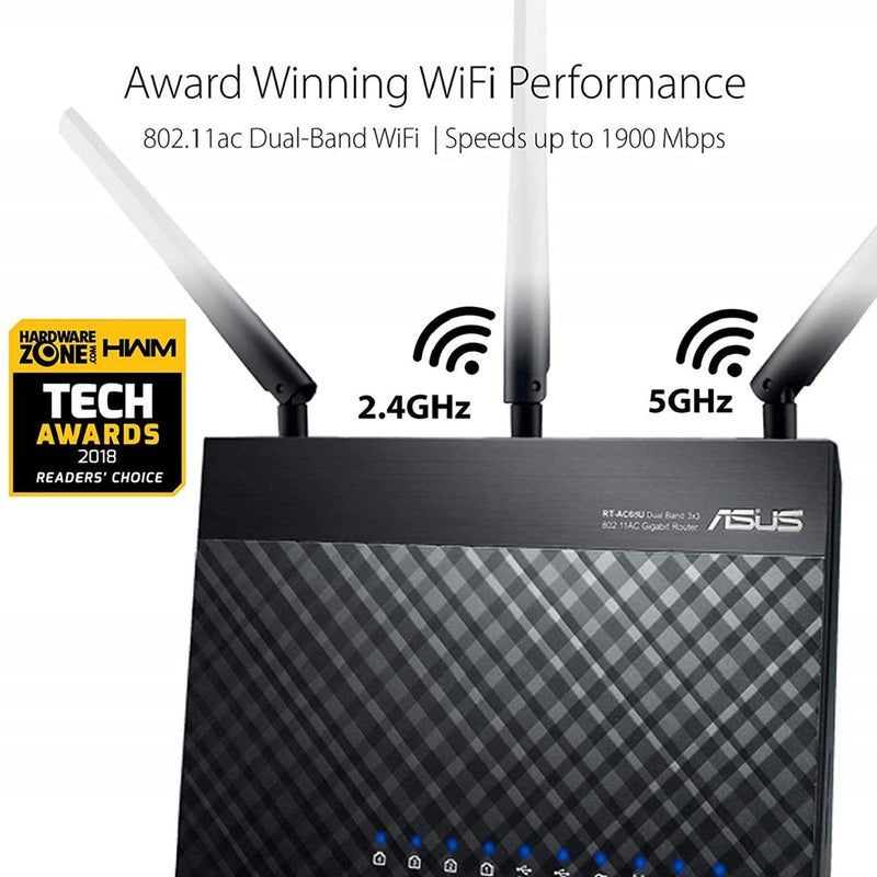 Asus AC1900 Dual Band Gigabit WiFi Router - RT-AC68U Gadgets & Accessories - DailySale