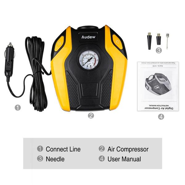 Audew 150W Portable Air Compressor Pump Automotive - DailySale
