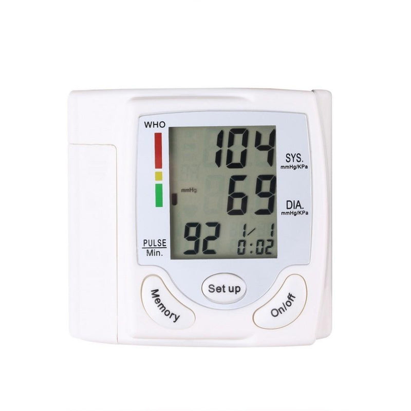 Automatic Digital Wrist Cuff Blood Pressure Monitor Wellness & Fitness - DailySale