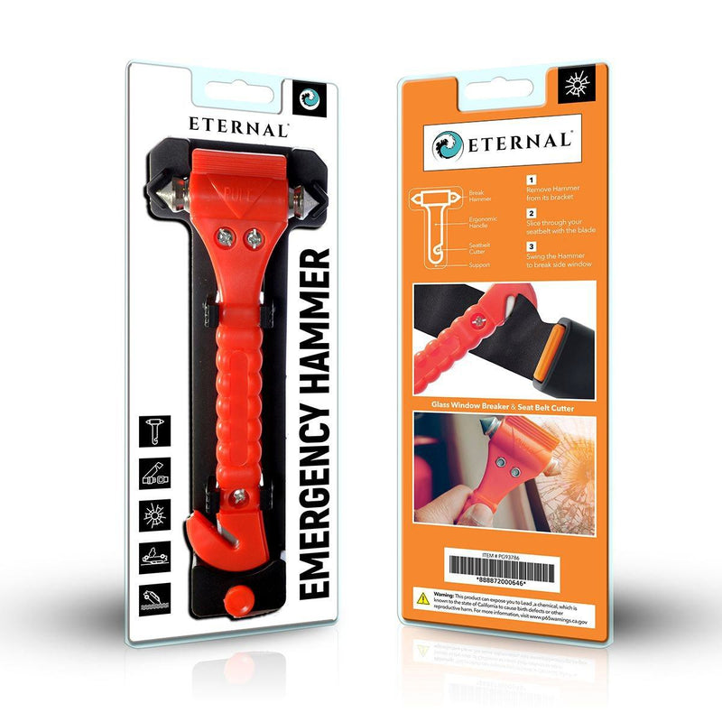 Automotive Emergency Hammer with Seat-Belt Cutter Auto Accessories - DailySale