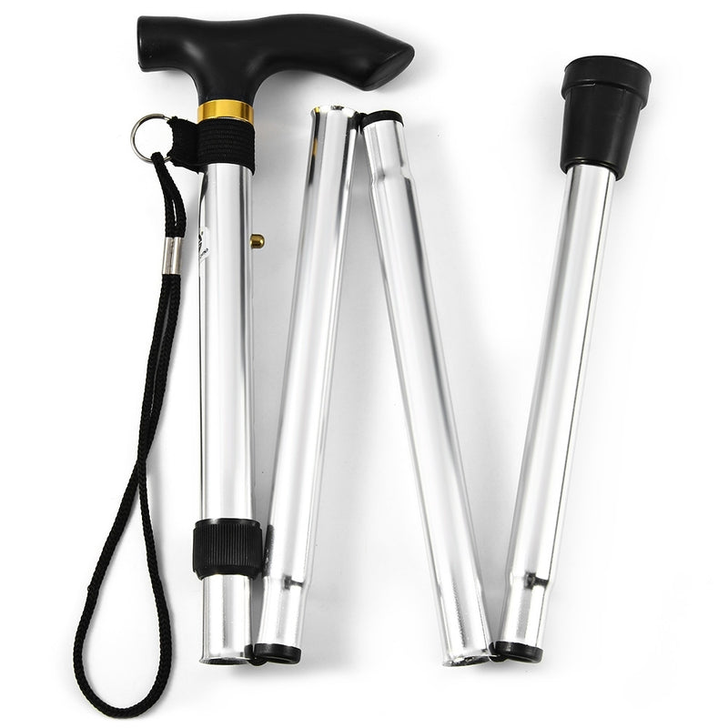 Portable Aluminum Folding Walking Travel Stick Cane - DailySale, Inc