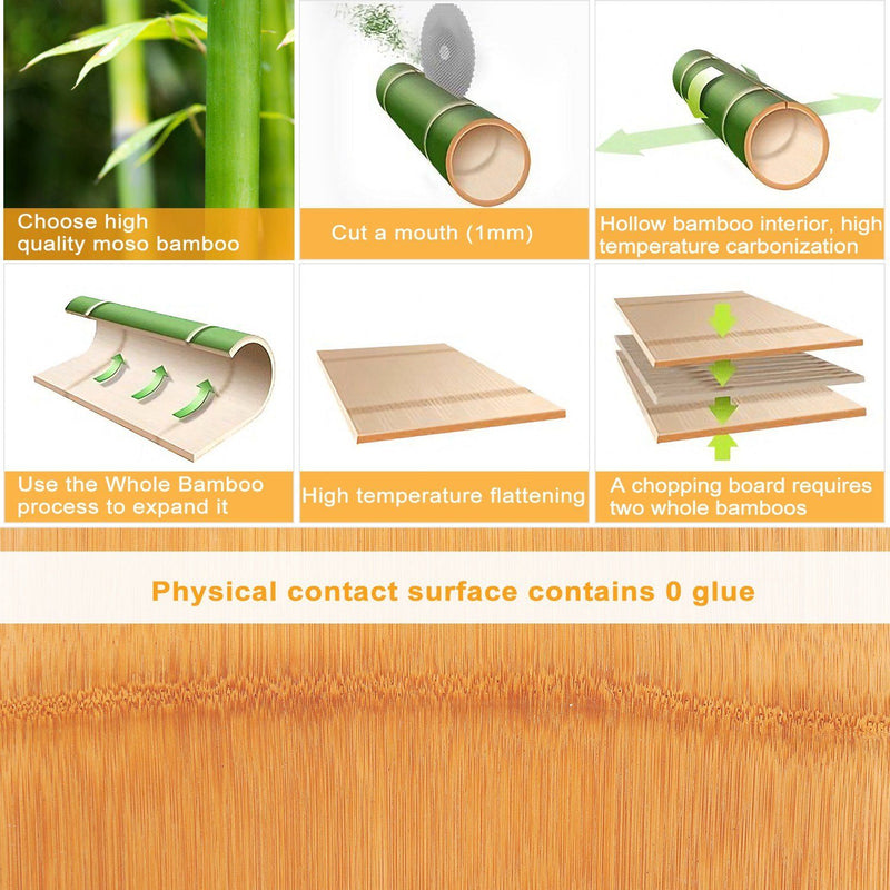 Bamboo Cutting Board with Sliding Draw Tray Kitchen & Dining - DailySale