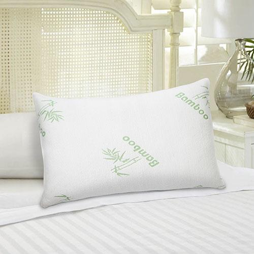 Bamboo Hypoallergenic Memory Foam Pillow Bedding - DailySale