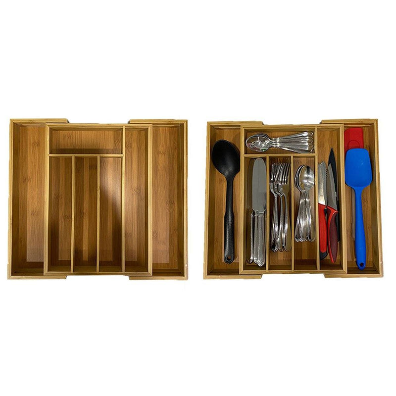 Bamboo Kitchen Drawer Organizer