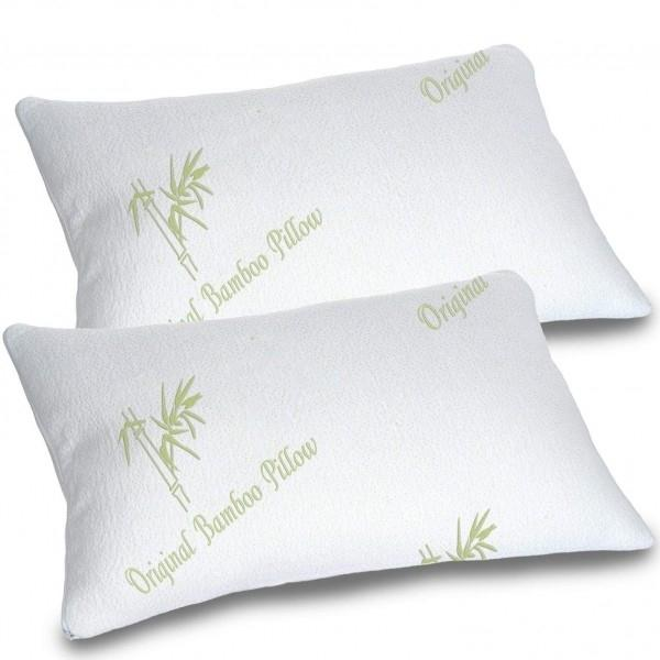 Bamboo Memory Foam Hypoallergenic Pillow - Assorted Sizes Linen & Bedding - DailySale