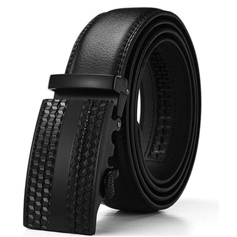 Barbados Men's Solid Buckle Leather Belt with Automatic Ratchet Men's Apparel 30 36 No. 1 - DailySale