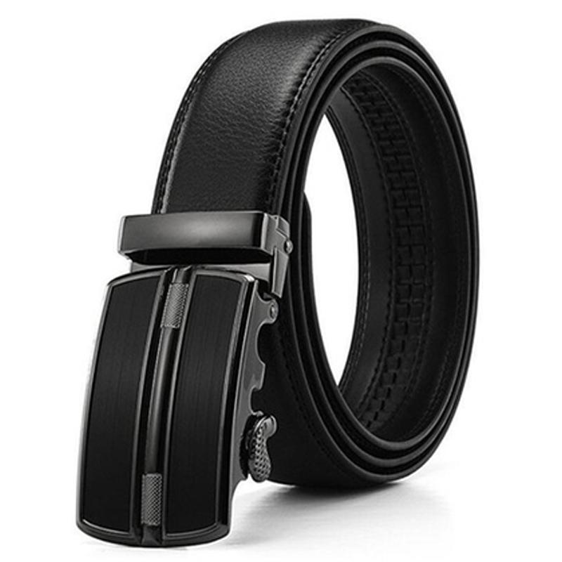 Barbados Men's Solid Buckle Leather Belt with Automatic Ratchet Men's Apparel 30 36 No. 3 - DailySale