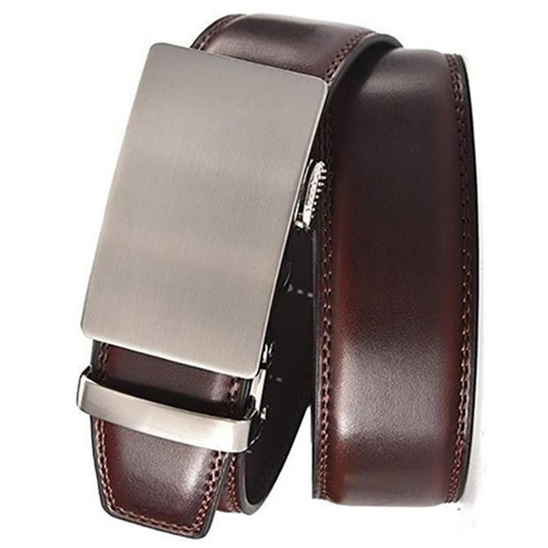 Barbados Men's Solid Buckle Leather Belt with Automatic Ratchet Men's Apparel 36 43 No. 5 - DailySale
