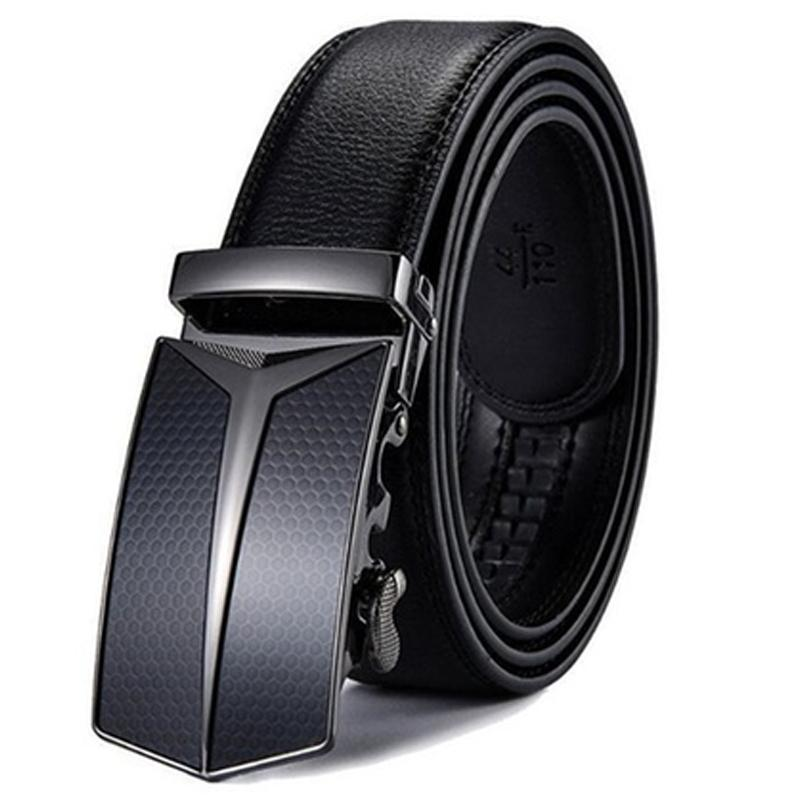 Barbados Men's Solid Buckle Leather Belt with Automatic Ratchet Men's Apparel 43 49 No. 2 - DailySale