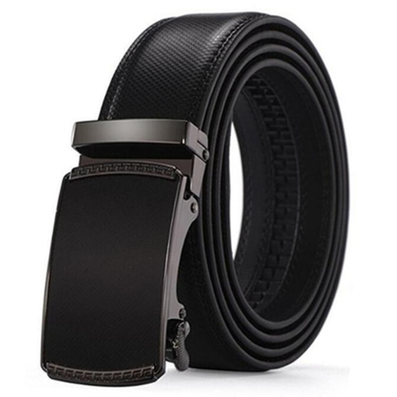 Barbados Men's Solid Buckle Leather Belt with Automatic Ratchet Men's Apparel 43 49 No. 4 - DailySale