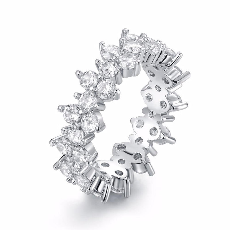 Barzel Women's Cubic Zirconia Eternity Band Ring Jewelry 5 - DailySale