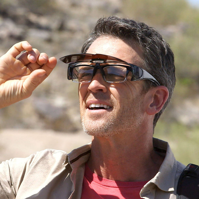 Bell + Howell Flip-Up Tacglasses Give Crisp Clear Vision without any Glare Tactical - DailySale